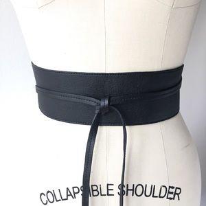 Eileen Fisher Leather Obi Belt